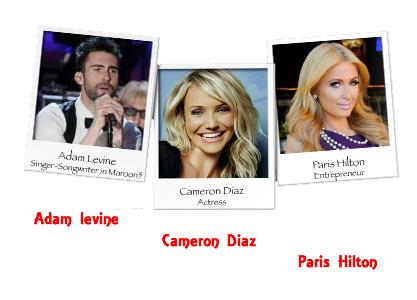 Adam levine - Cameron Diaz - Paris Hilton